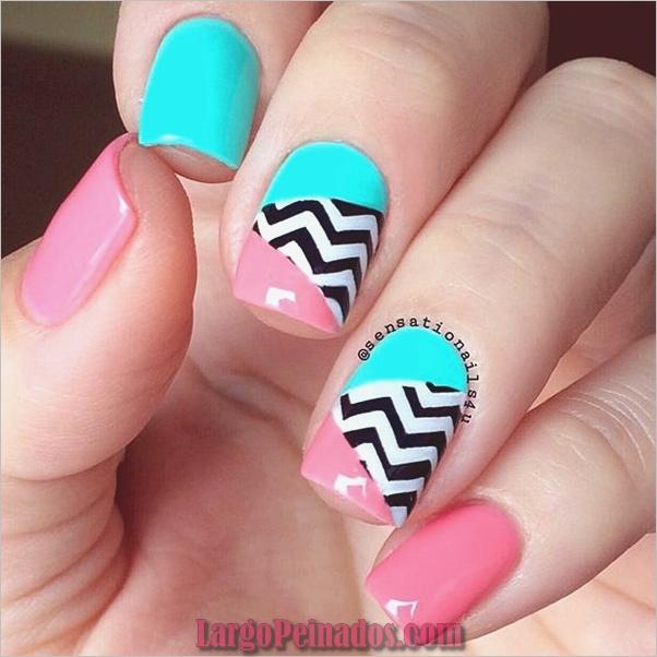 lindos rosados y negros diseños de uñas-17