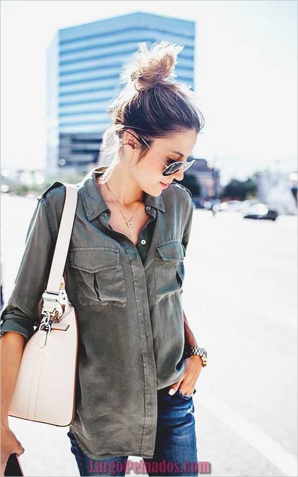 Camisas de moda con su botón arriba-camisas-8