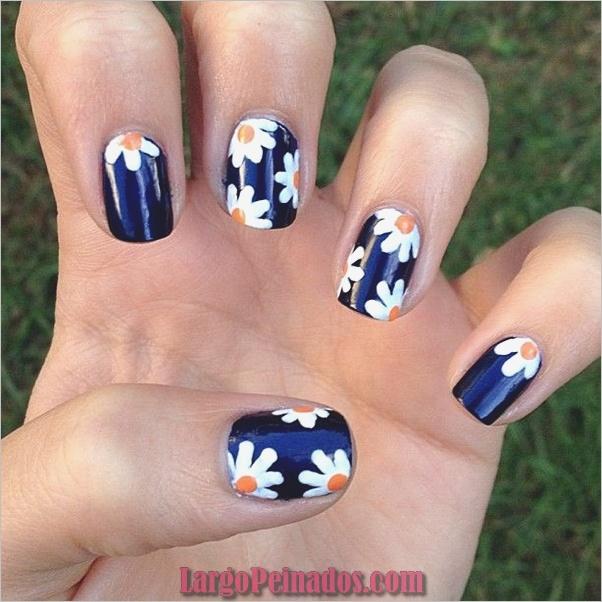 Ideas y diseños de arte de uñas azules (16)