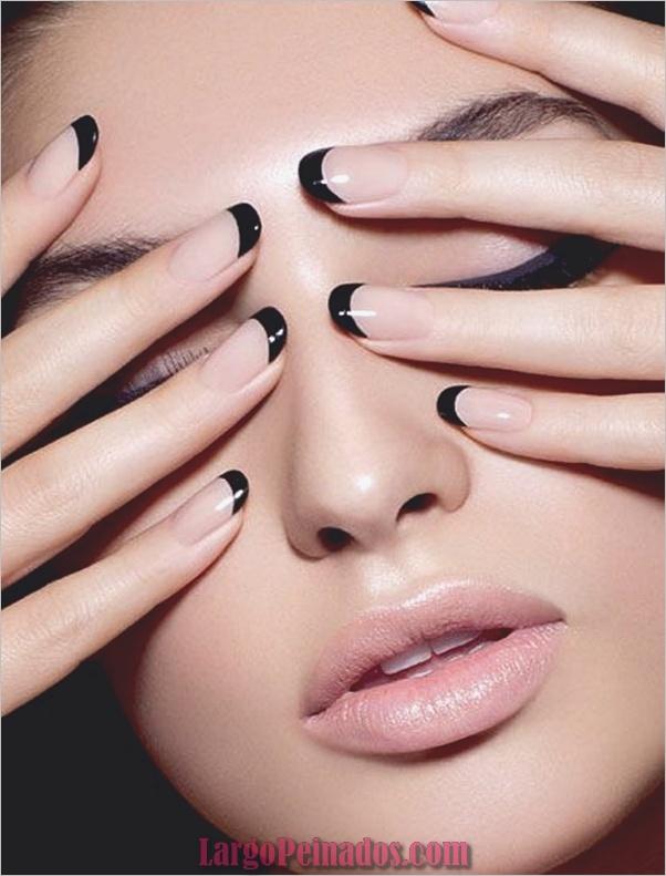 Diseños de arte de uñas negro16
