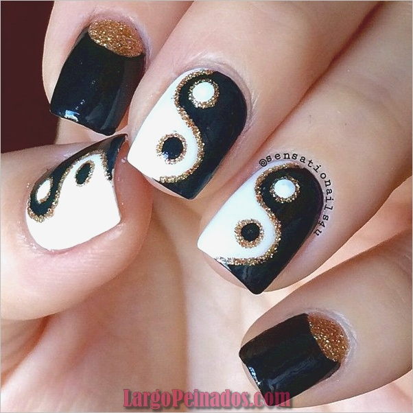 Diseños de arte de uñas fáciles para uñas cortas 2019 (1)