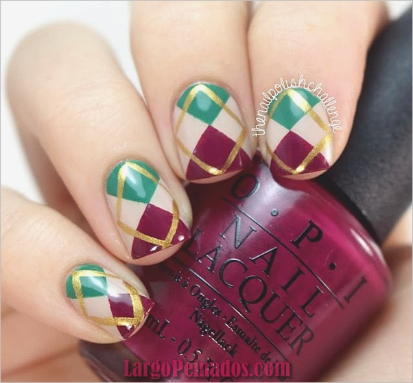 Diseños de arte simples para uñas cortas (22)
