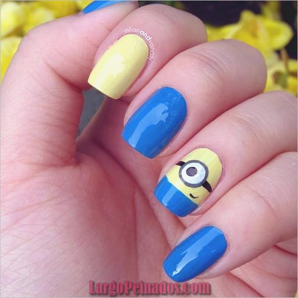 Diseños de arte de uñas fáciles para uñas cortas 2019 (2)