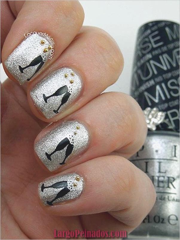 Ideas y diseños de uñas de año nuevo (4)