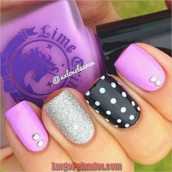 Diseños de arte de uñas púrpura (5)