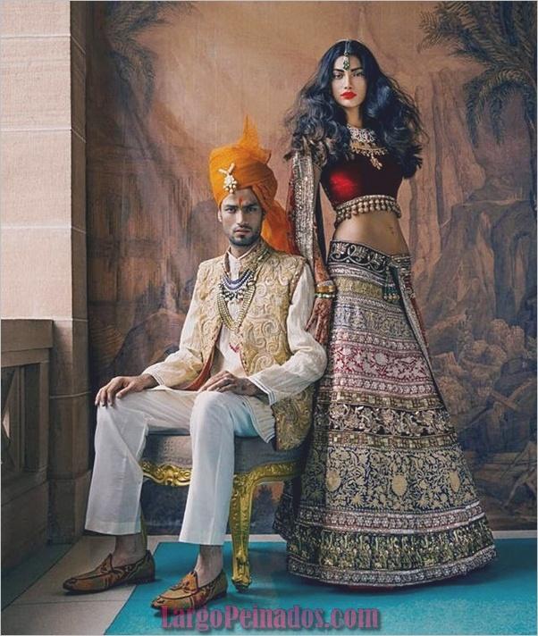 Vestidos y trajes indios elegantes24