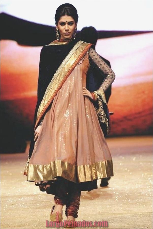 Vestidos y trajes indios elegantes5
