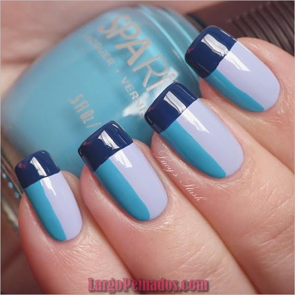 Ideas y diseños de arte de uñas azules (27)