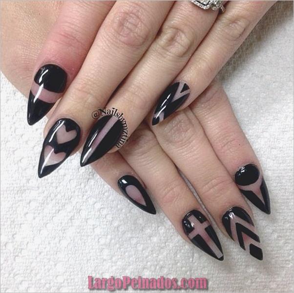 Diseños de uñas de almendra puntiaguda (7)