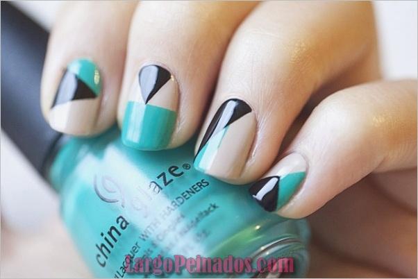Ideas y diseños de arte de uñas azules (26)