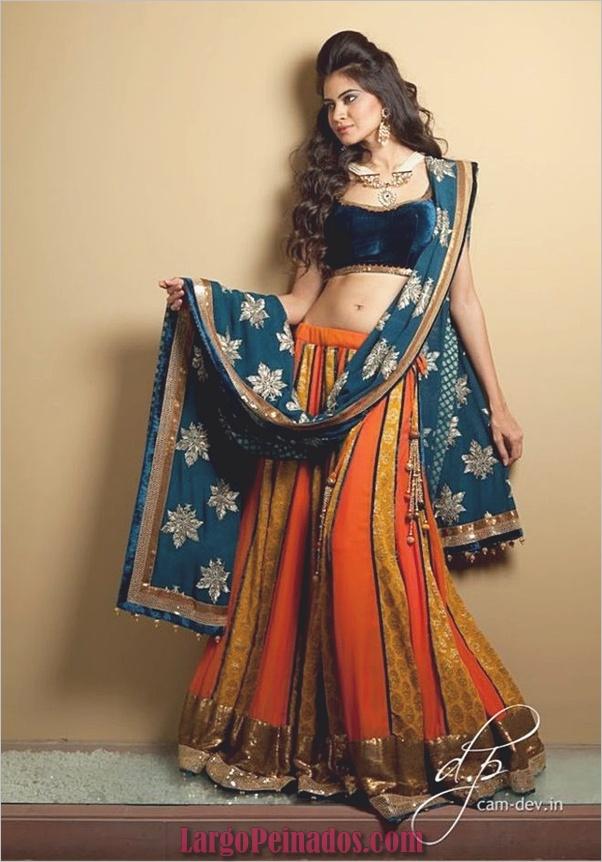 Vestidos y trajes indios elegantes38