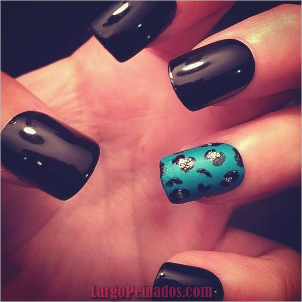 Diseños de arte de uñas negro6
