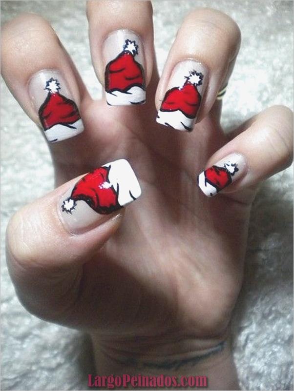 Diseños e ideas de arte de uñas de navidad15