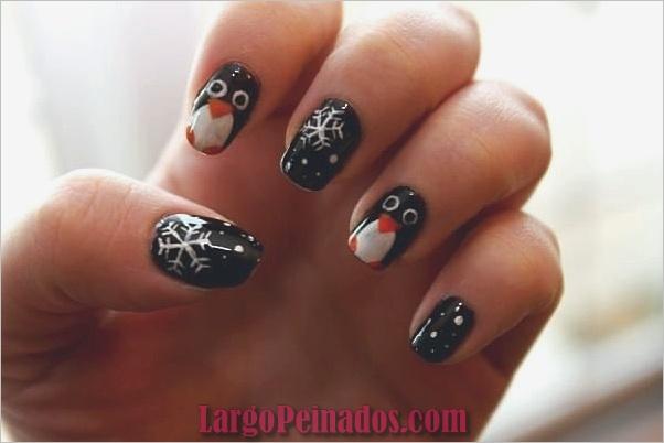 Ideas y diseños de arte para uñas navideñas9