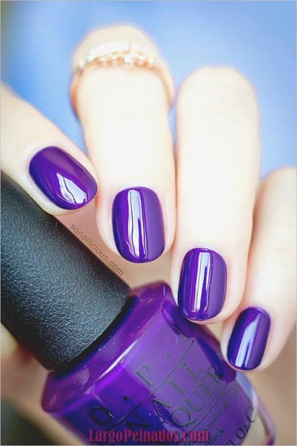 Diseños de arte de uñas púrpura (28)