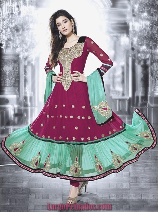 Elegantes vestidos y trajes indios3