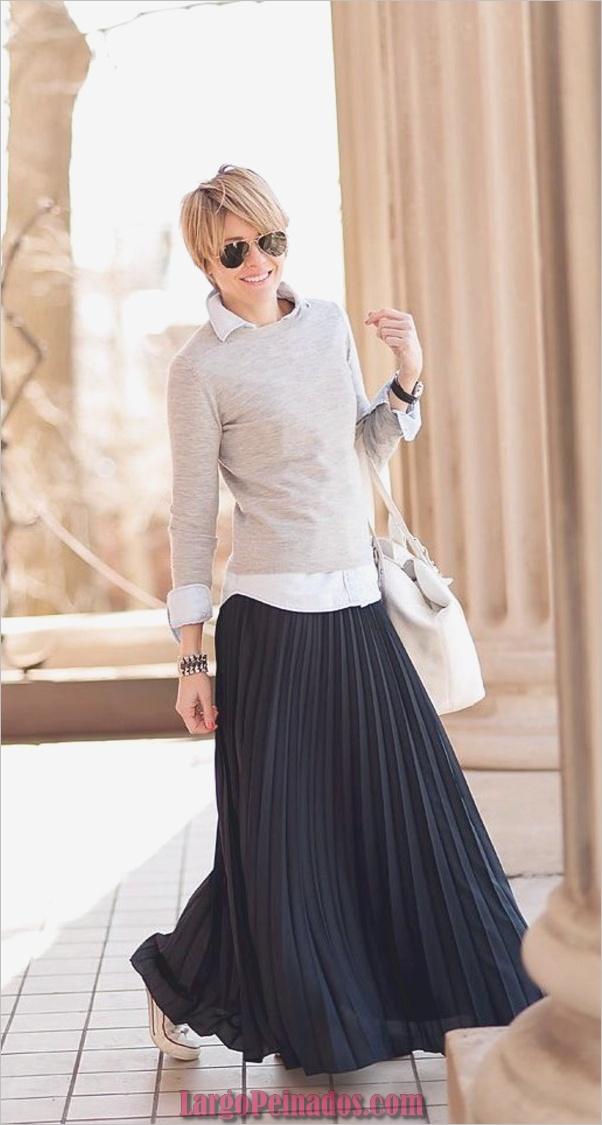 Casual-manga larga-trajes