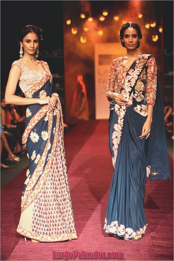 Vestidos y trajes indios elegantes15