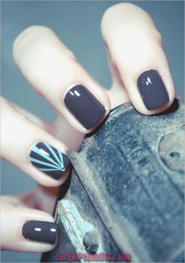 Diseños de arte de uñas fáciles para uñas cortas 2019 (7)