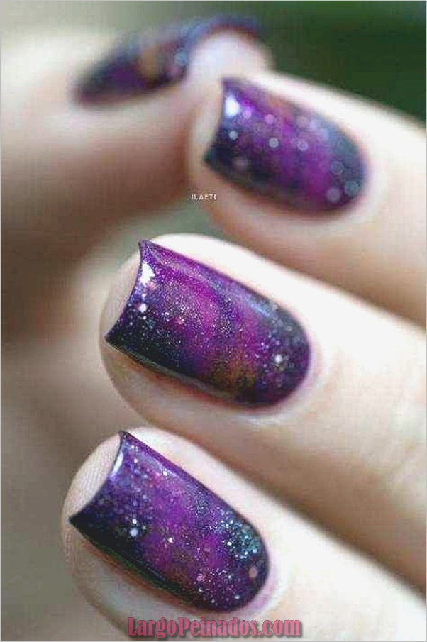 Diseños de arte de uñas púrpura (1)