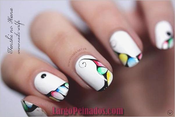 Diseños bonitos de uñas francesas (4)