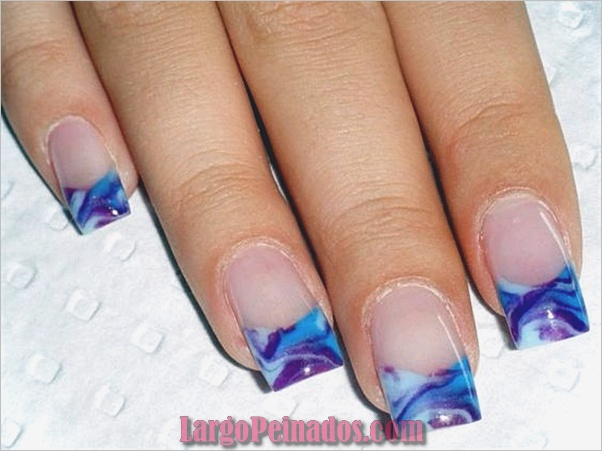 Diseños de arte de uñas de mármol (2)