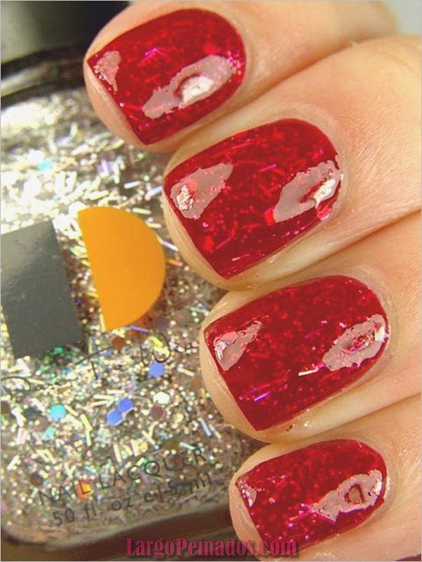 Arte de uñas rojo diseños10