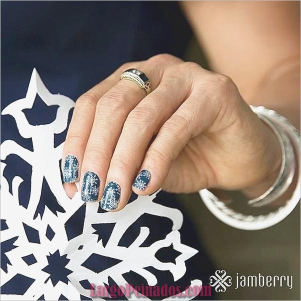Diseños de uñas de invierno 2019 (1)