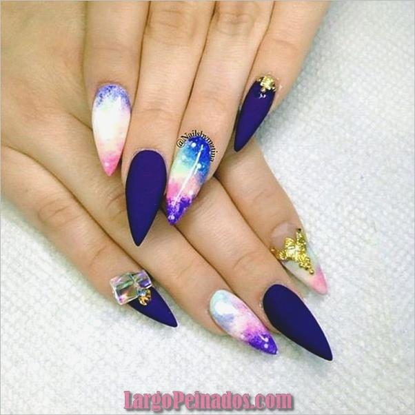 Ideas y diseños de uñas de aguja fáciles (18)
