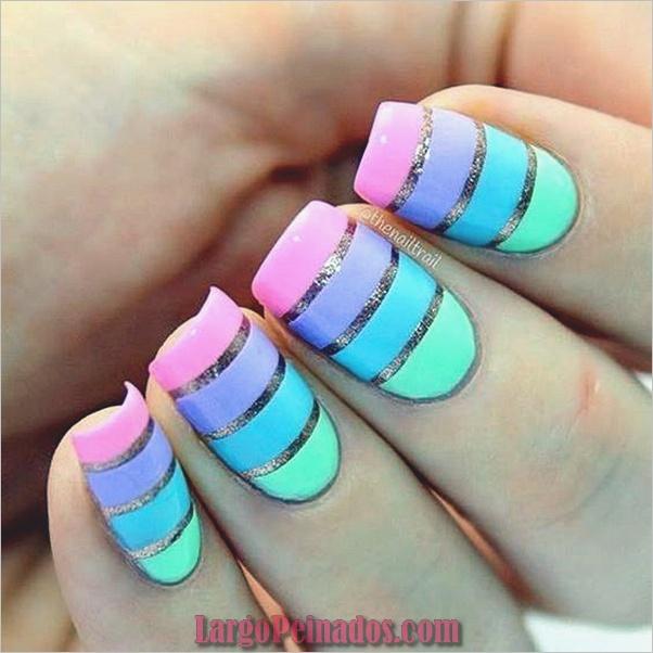 Ideas y diseños fáciles de esmalte de uñas (19)