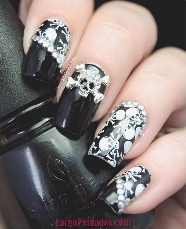 Ideas y diseños de arte de uñas de Halloween (6)