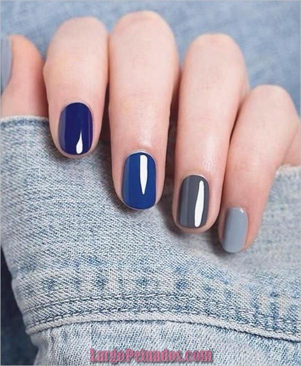 Ideas y diseños de arte de uñas azules (53)