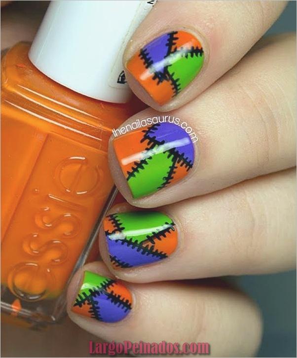 Ideas y diseños de arte de uñas de Halloween (9)