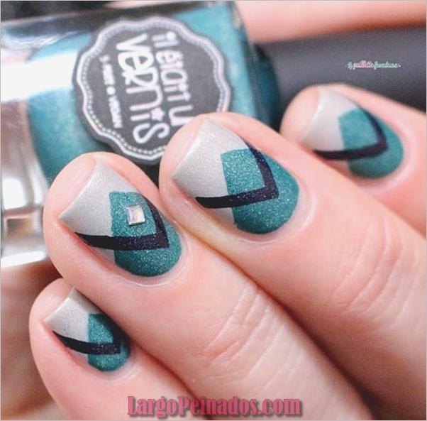 Ideas y diseños fáciles de esmalte de uñas (6)