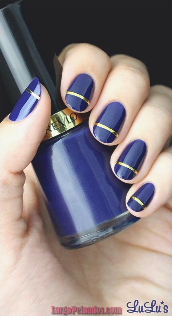Ideas y diseños de arte de uñas azules (5)
