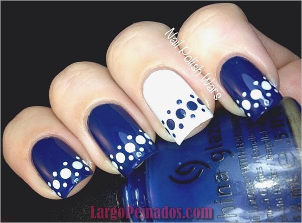 Ideas y diseños de arte de uñas azules (56)