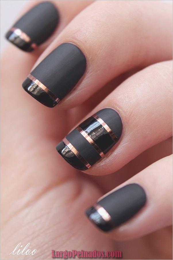 Diseños de arte de uñas negro3
