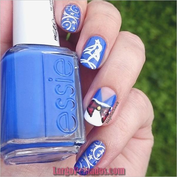 Ideas y diseños de arte de uñas azules (6)