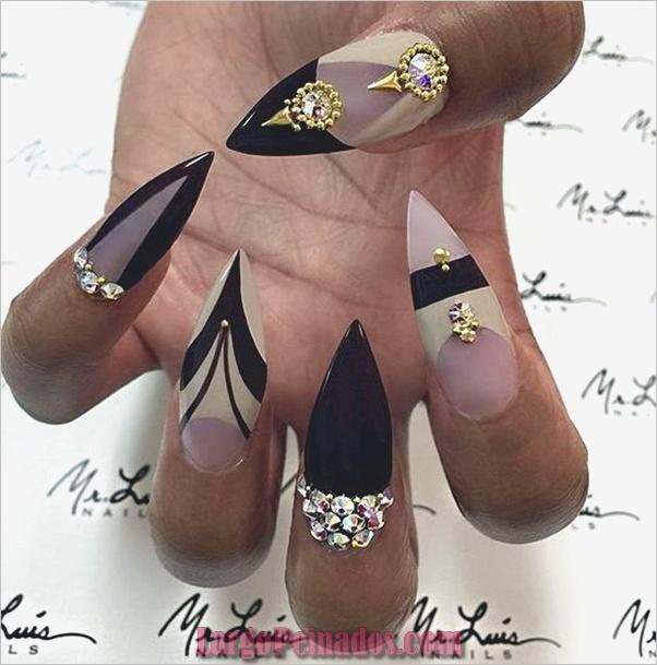 Ideas y diseños de uñas de aguja fáciles (12)