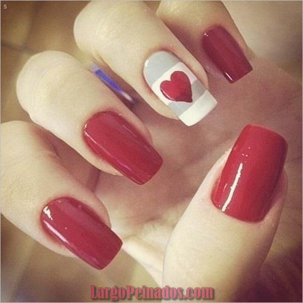 Diseños de arte de uñas rojas11