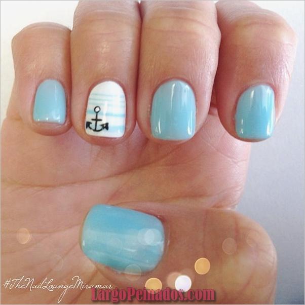 Ideas y diseños de arte de uñas azules (8)