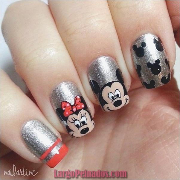 Diseños de arte de uñas fáciles para uñas cortas 2019 (4)