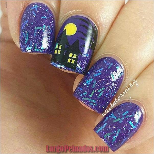 Ideas y diseños de arte de uñas de Halloween (3)