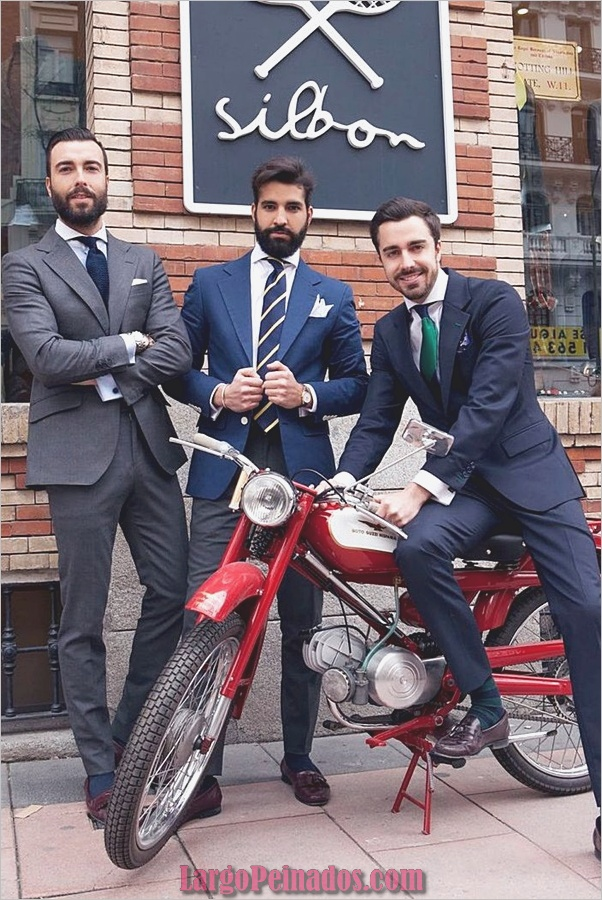 Trajes de estilo de moda para hombres27