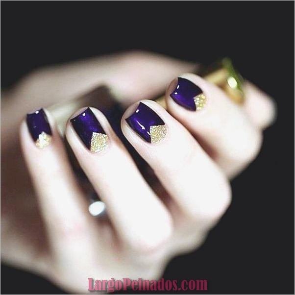 Diseños de arte de uñas púrpura (19)