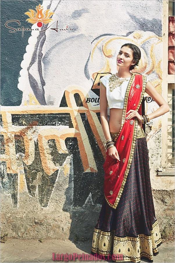 Vestidos y trajes indios elegantes31