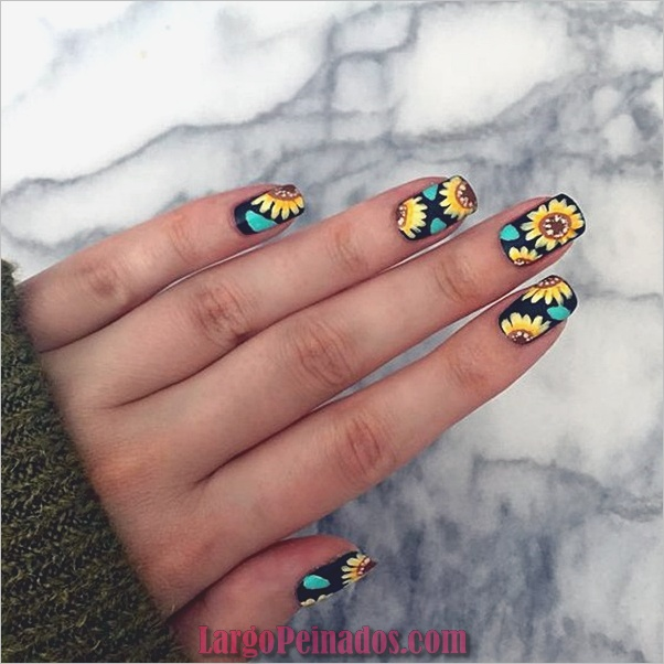Ideas y diseños fáciles de esmalte de uñas (28)