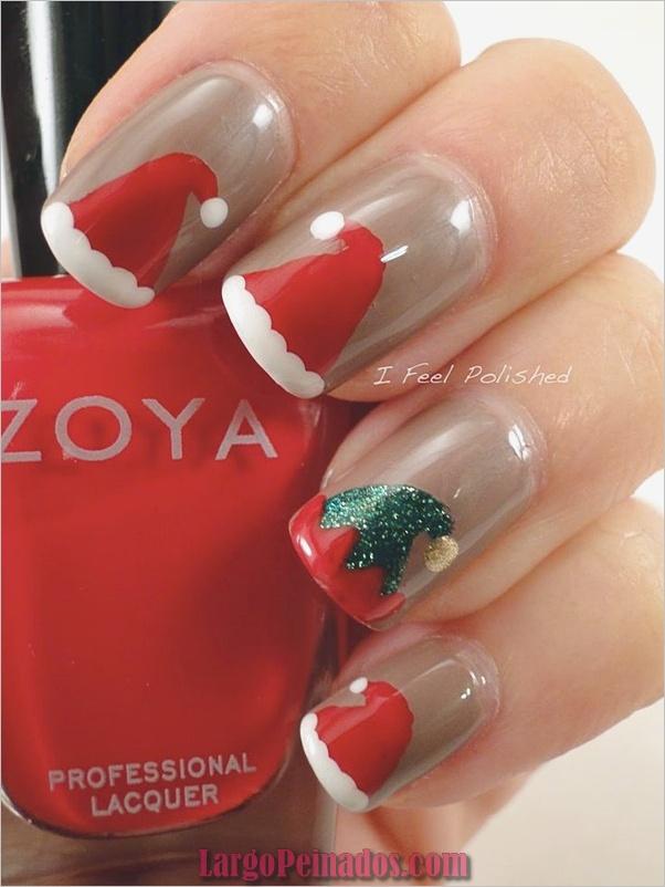 Ideas y diseños de arte de uñas de Navidad13