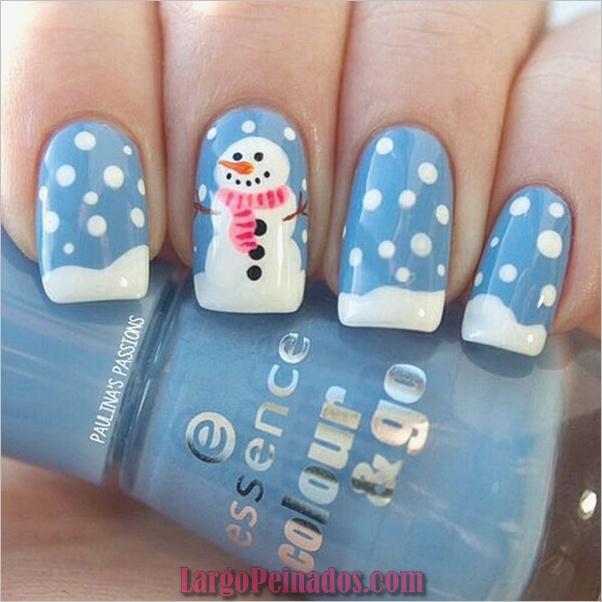 Ideas y diseños de arte de uñas de navidad10