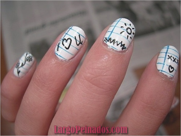 Ideas rápidas de arte de uñas para mujeres de oficina (20)